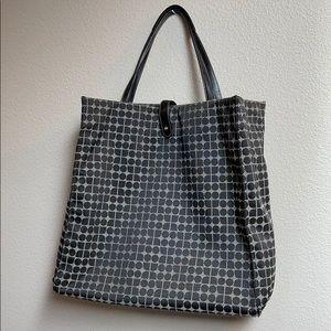 Kate Spade large jacquard fabric logo tote bag